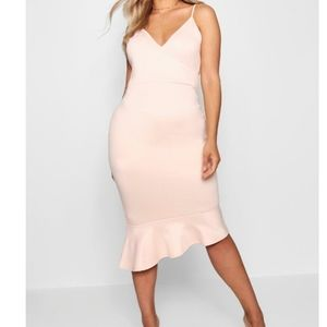 BNWT Maya Wrap Front Asymmetric Hem Midi Dress